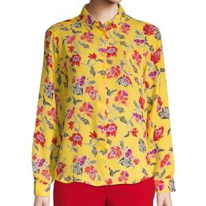 NEW..!PHILOSOPHY APPAREL YELLOW BLOUSE L RED